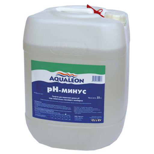 регулятор PH-минус AQVATICS 35кг. про-во Россия